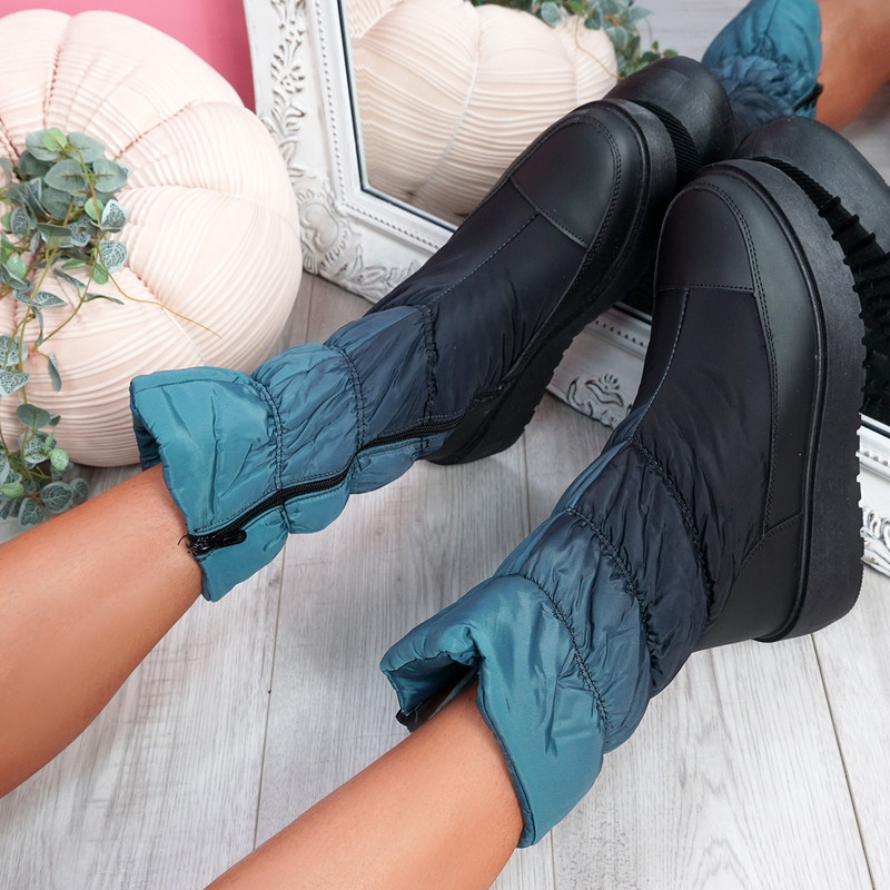 Ibby Green Winter Mid Calf Boots