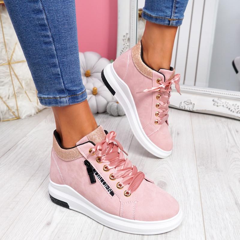 Kebbo Pink Glitter Sneakers