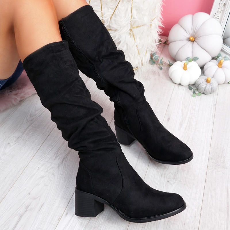 Wima Black High Top Ankle Boots