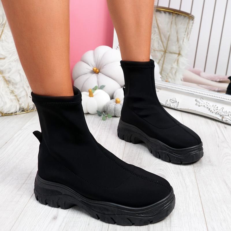 Kerry Black Sock Sneakers Trainers