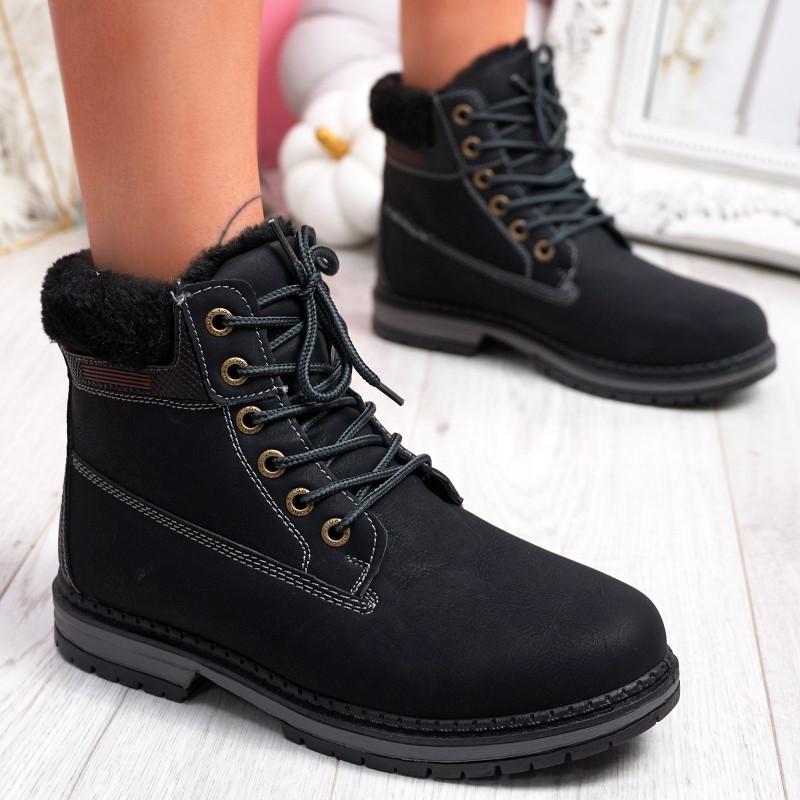Ennis Black Ankle Boots