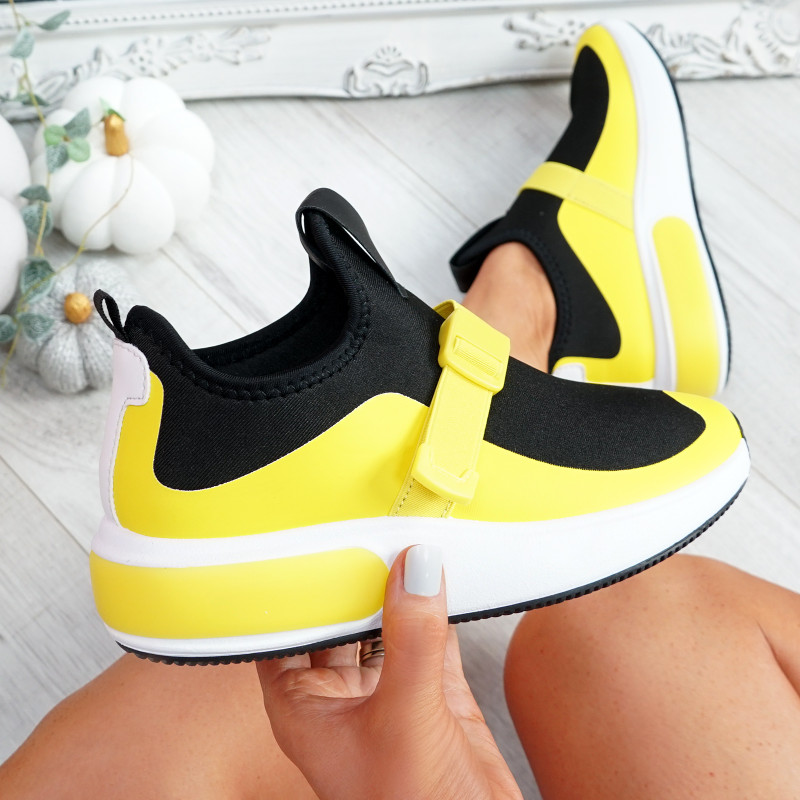 Zonna Yellow Sport Trainers