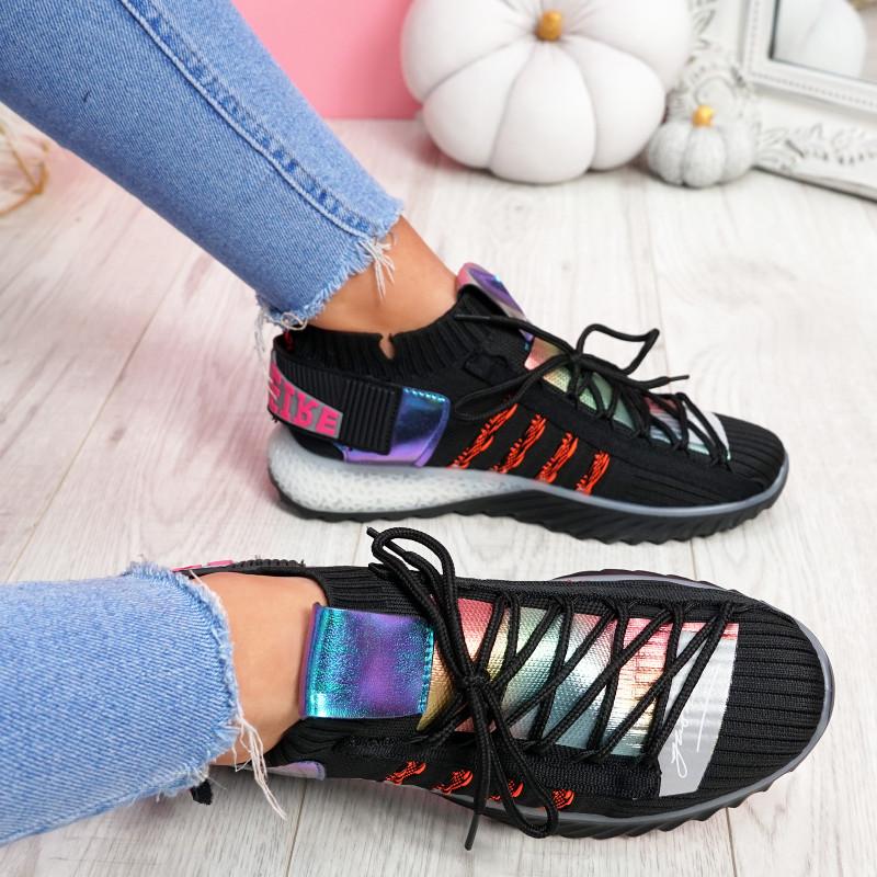 Jozzy Black Knit Sneakers
