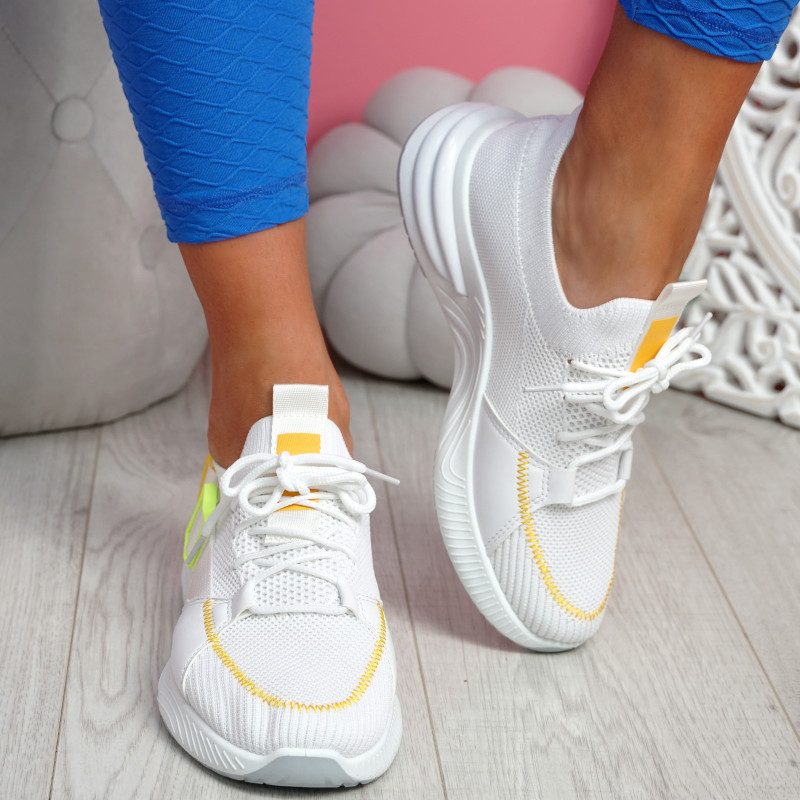 Irre White Chunky Sport Trainers