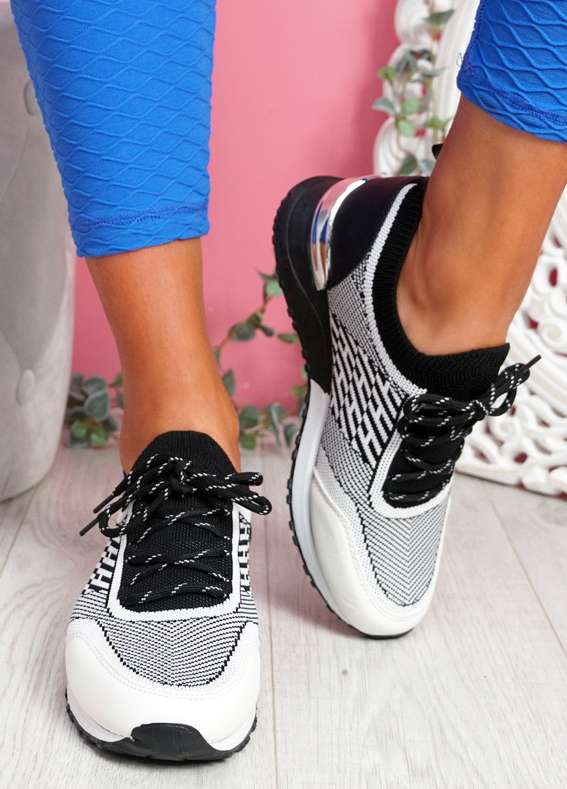 Mezzy Black White Sport Trainers
