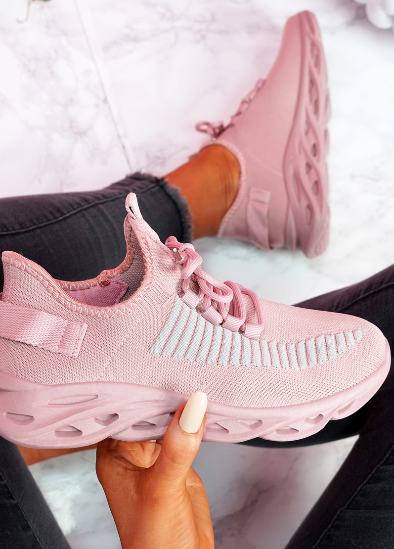 Hety Pink Chunky Trainers
