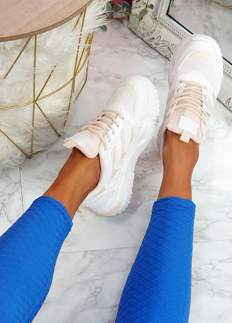 Huve Pink Chunky Sneakers