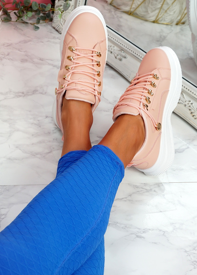 Huto Pink Platform Sneakers