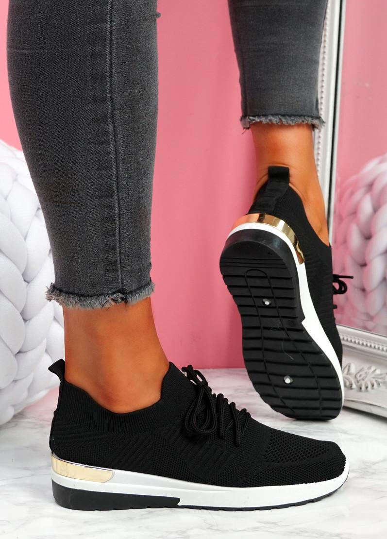 Scopo Black Knit Lace Sneakers