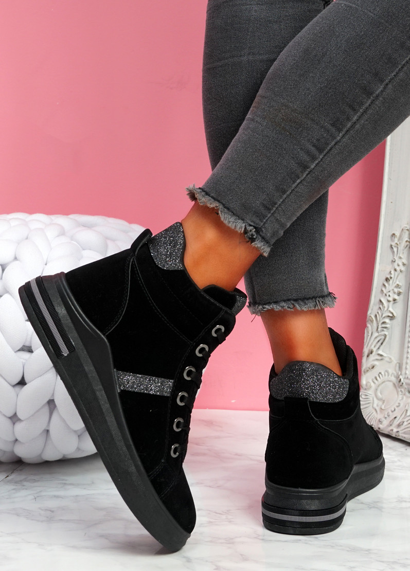 Noby Black High Top Trainers