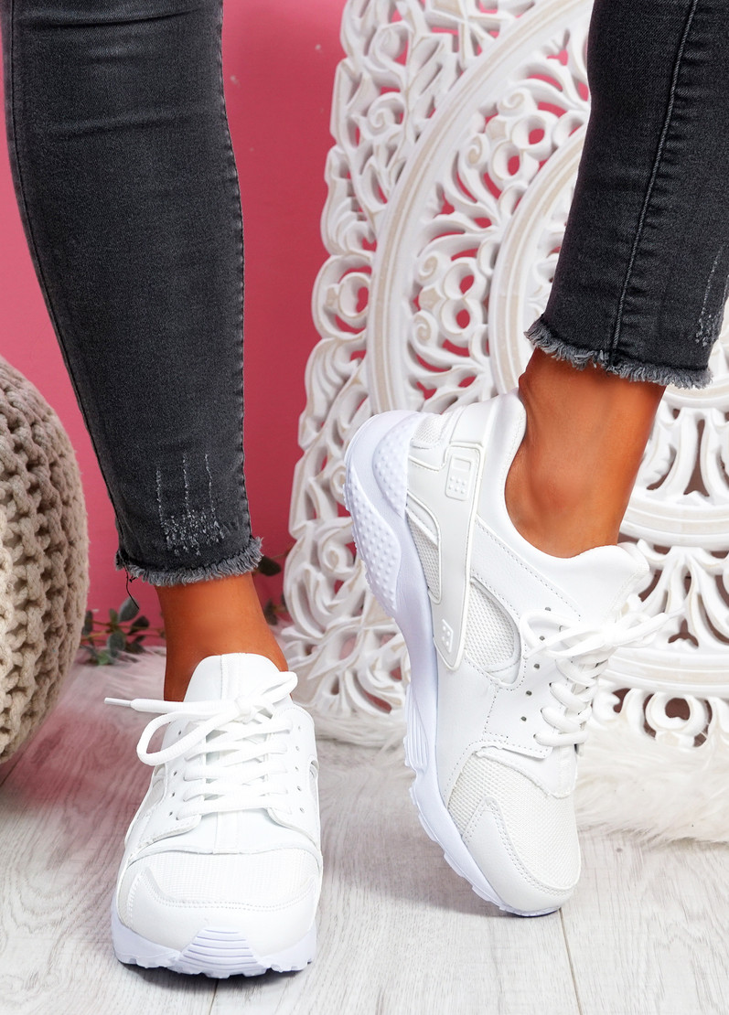 Yutty White Sport Sneakers