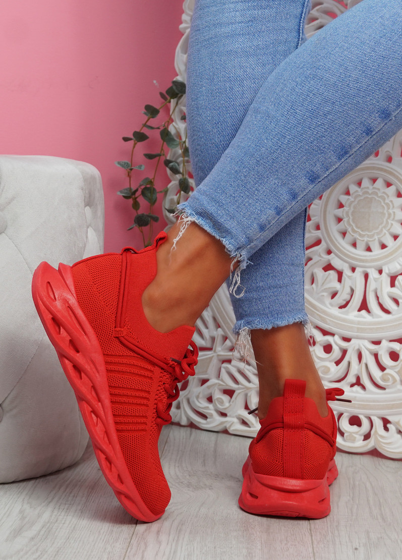 Nuza Red Sport Sneakers
