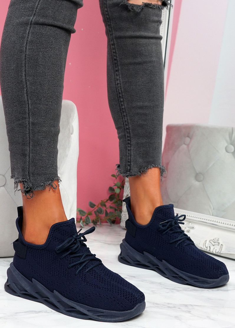 Zamy Navy Running Trainers