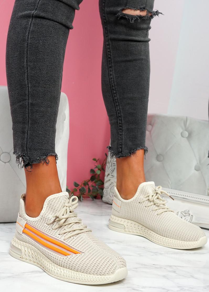 Gonna Beige Knit Sneakers
