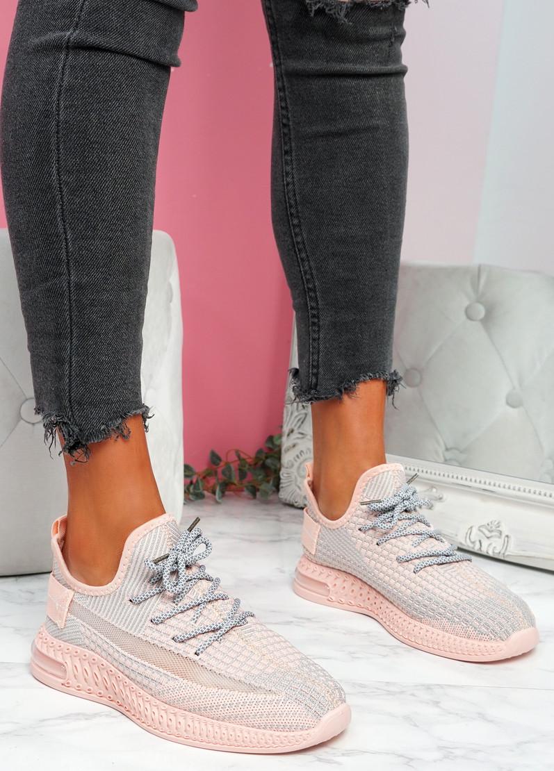 Flery Pink Knit Sport Sneakers