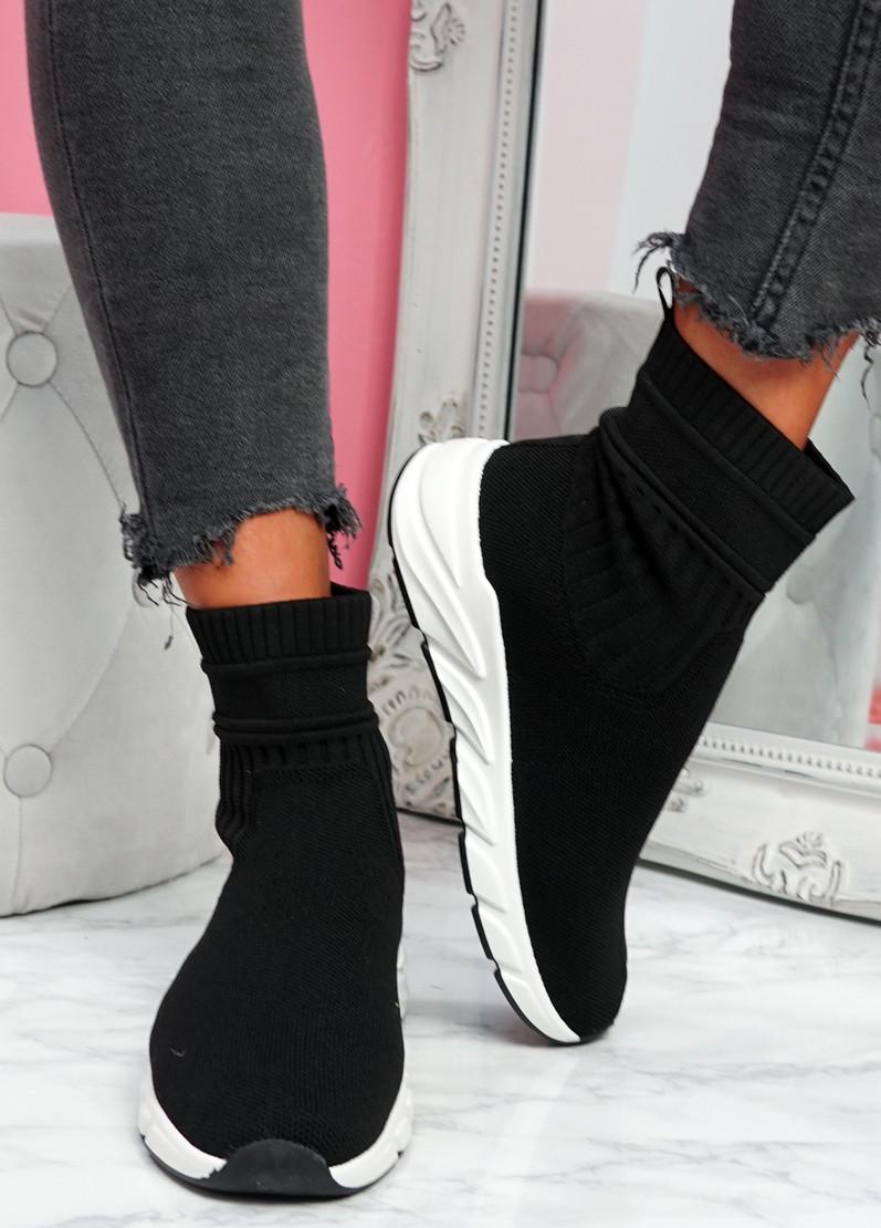 Mimmy Black Sock Sneakers