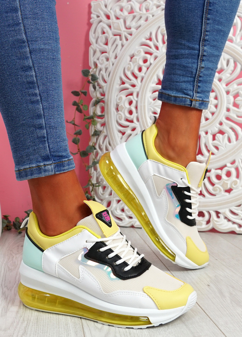 Goma Yellow Clear Heel Trainers