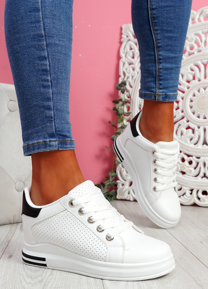 Hovy White Black Trainers