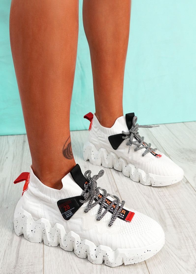 Monno White Chunky Trainers