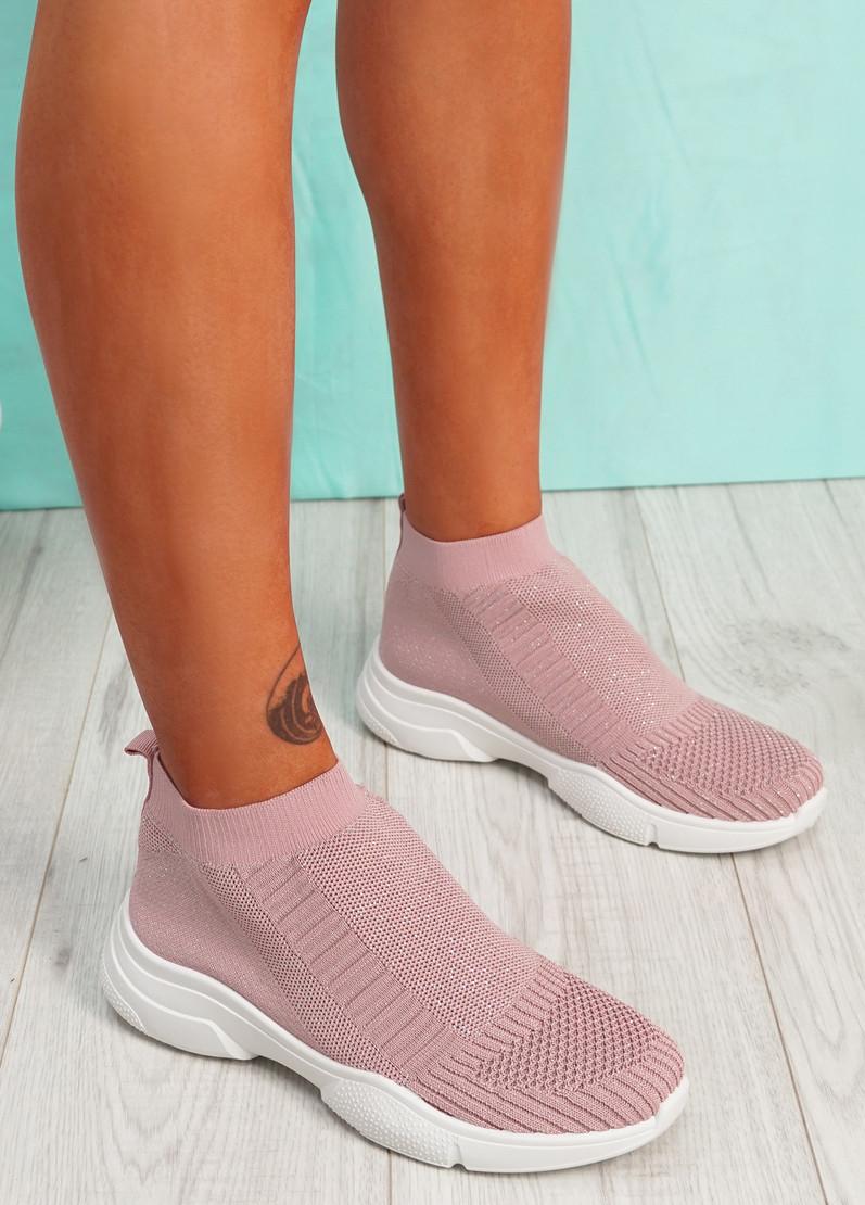 Girro Pink Sock Sneakers