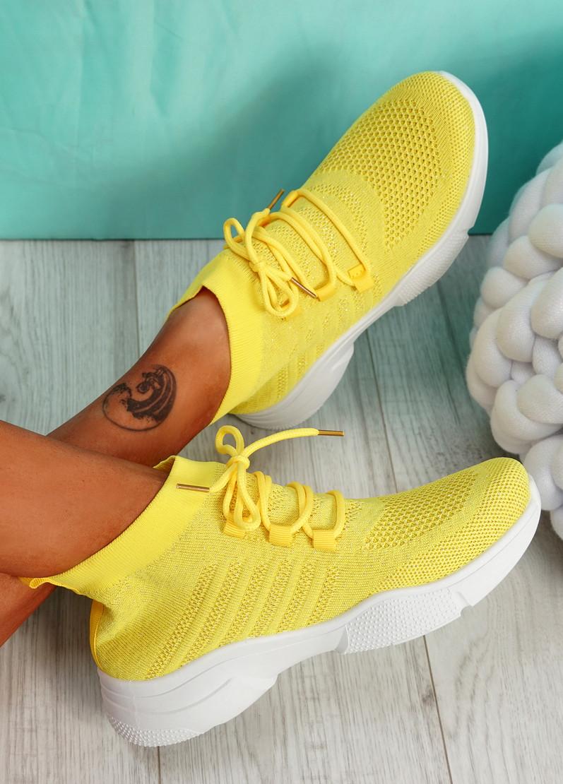 Dinni Yellow Sock Sneakers