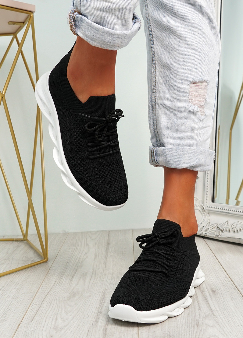 Canny Black Slip On Trainers