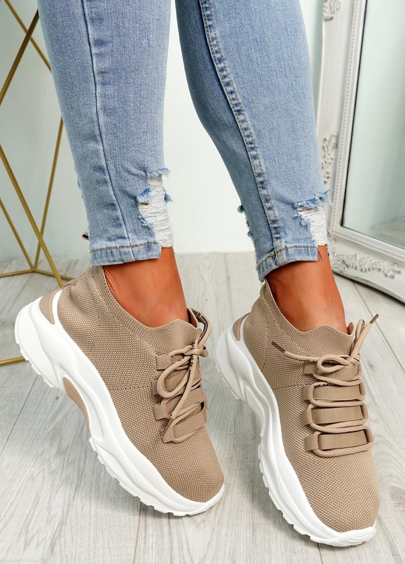 Geny Khaki Chunky Sneakers