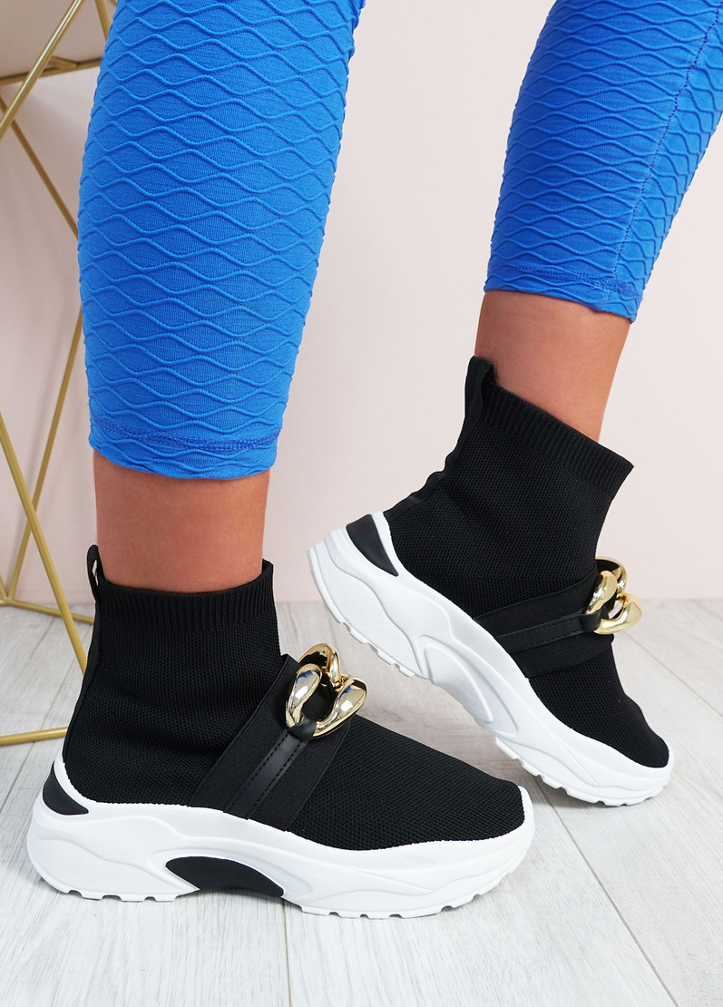 Aysha Black Sock Chunky Trainers