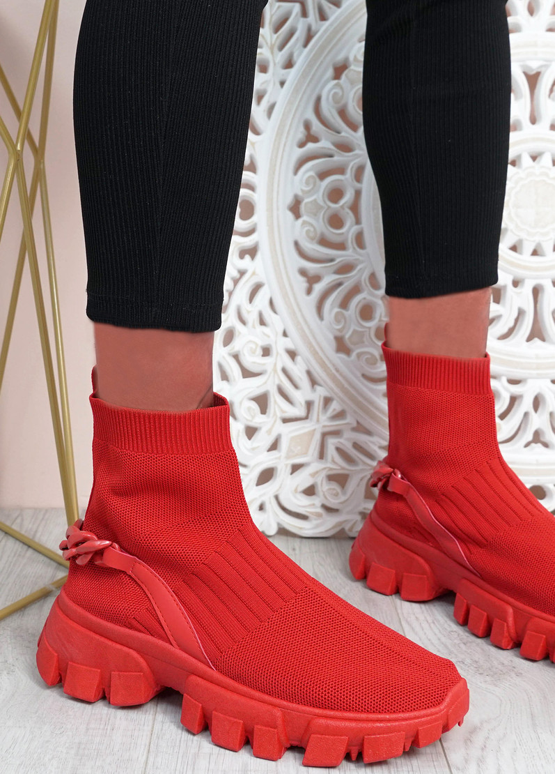 Lachlan Red Sock Sneakers