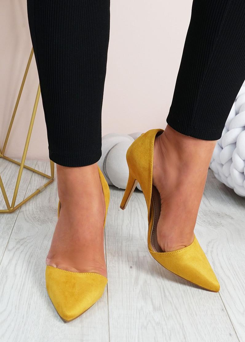 Emelia Yellow High Heels Stiletto Shoes