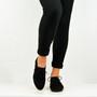 Black Suede Casual Pumps Shoes