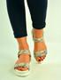 Snake Ankle Strap Platform Sandals