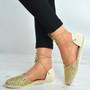 Gold Glitter Sparkle Flat Ballerinas