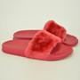 Hanna Red Fur Flip Flops