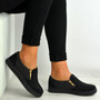 Scarlett Black Studded Slip On Trainers