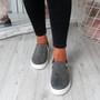 Scarlett Grey Studded Slip On Trainers