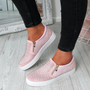 Scarlett Pink Studded Slip On Trainers