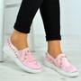 Marissa Pink Pearl Slip On Trainers
