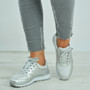 Yamilet Silver Glitter Trainers