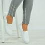 Lena White Crochet Plimsolls