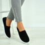 Lena Black Crochet Plimsolls