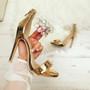 Regan Champagne Patent Stiletto Sandals