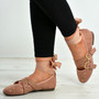 Kenley Pink Ankle Wrap Ballerina