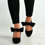 Renee Black Bow Pumps