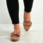 Josie Pink Bow Slip On Ballerinas