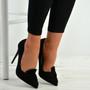 Ingrid Black Bow Stiletto Pumps