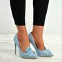 Ingrid Blue Bow Stiletto Pumps
