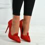 Ingrid Red Bow Stiletto Pumps