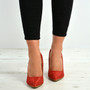 Angelina Red Glitter Sparkle Pumps