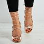 Estrella Rose Gold Lace Up Stiletto